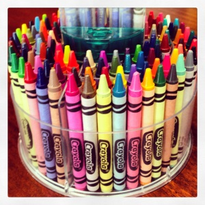 set of crayons