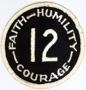 Patch worn by football team to celebrate the legacy of Joe Roth.